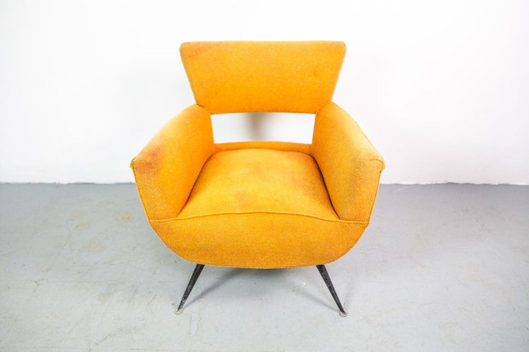 American 1950s Mid-Century Modern Lounge Armchair by Henry Glass For Sale