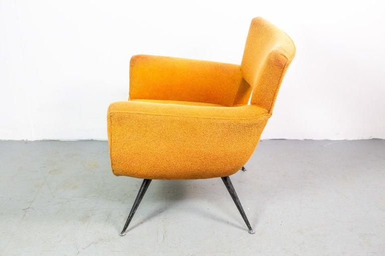 1950s Mid-Century Modern Lounge Armchair by Henry Glass In Fair Condition For Sale In Berlin, DE