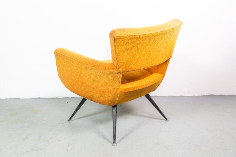 Mid-20th Century 1950s Mid-Century Modern Lounge Armchair by Henry Glass For Sale