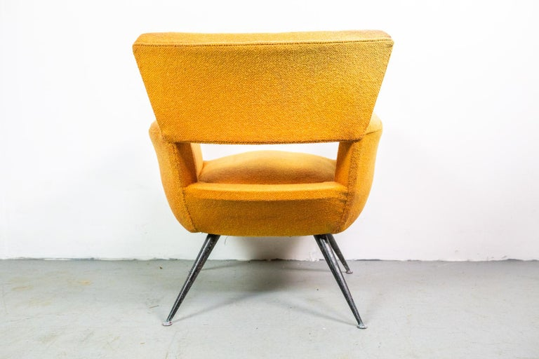 Metal 1950s Mid-Century Modern Lounge Armchair by Henry Glass For Sale