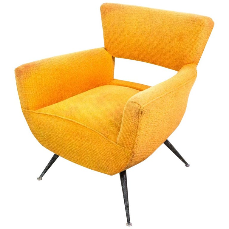 1950s Mid-Century Modern Lounge Armchair by Henry Glass For Sale