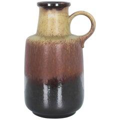 1950s Mid-Century Modern Ochre Umber Ceramic Vase