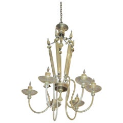 1950s Mid-Century Modern Venini Six-Light Chandelier