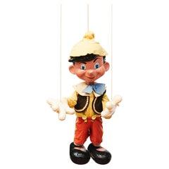 1950s MidCentury Vintage Pinocchio Marionette Puppet, Pelham Puppets