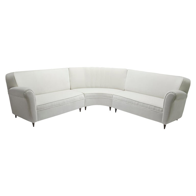 1950s Midcentury Italian Corner Sofa For Sale at 1stdibs