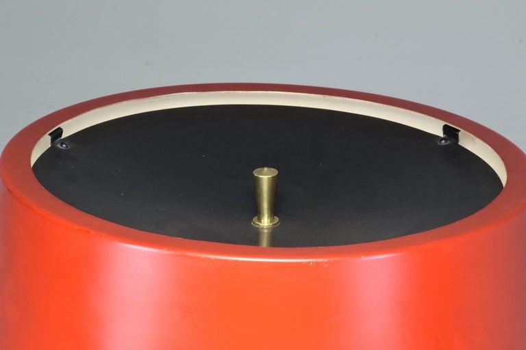 20th Century 1950s Mid-Century Modern Italian Oscar Torlasco Brass Table Lamp For Sale