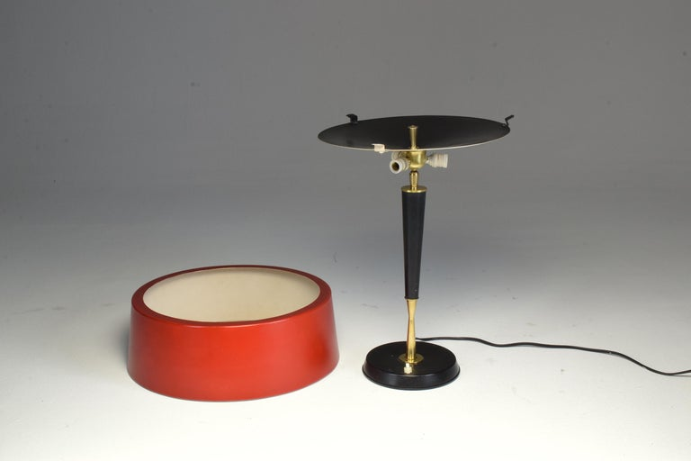 1950s Mid-Century Modern Italian Oscar Torlasco Brass Table Lamp For Sale 2