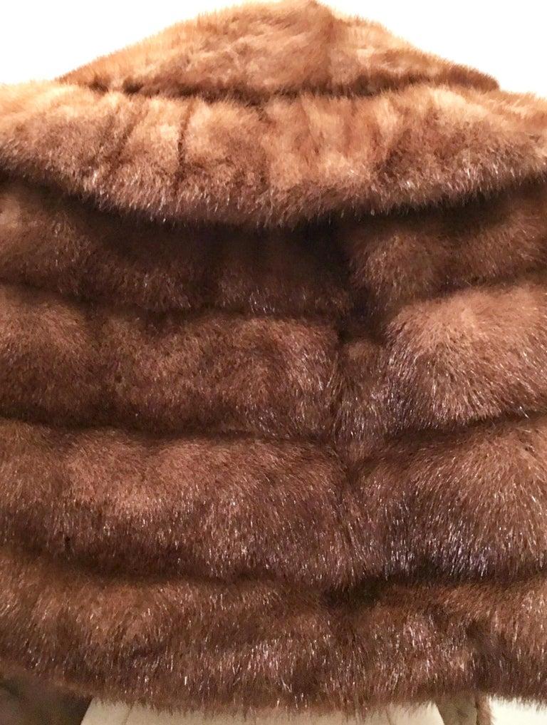 1950'S Mink Whyskey Dyed Mink Fur Capelet Jacket By, Lloyds Fur-Denver For Sale 1
