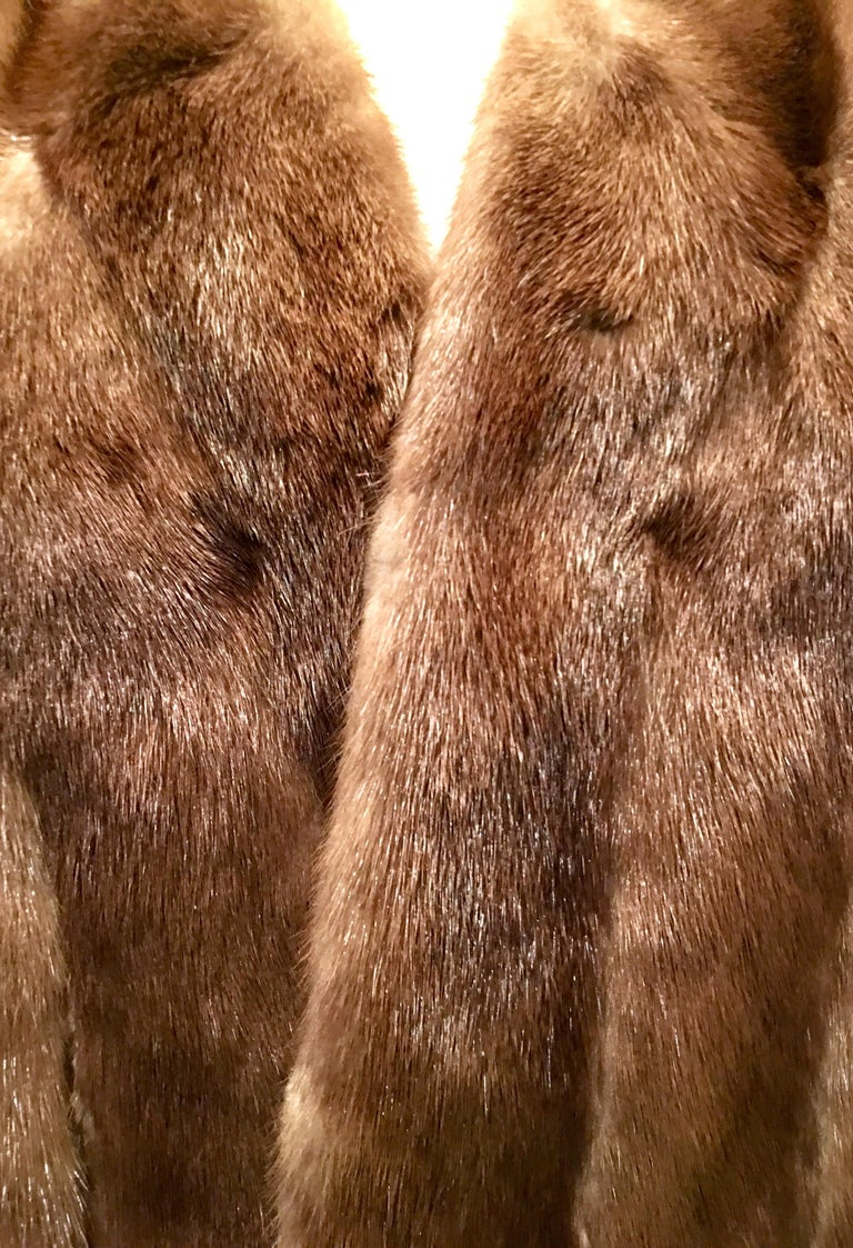 1950'S Mink Whyskey Dyed Mink Fur Capelet Jacket By, Lloyds Fur-Denver For Sale 2