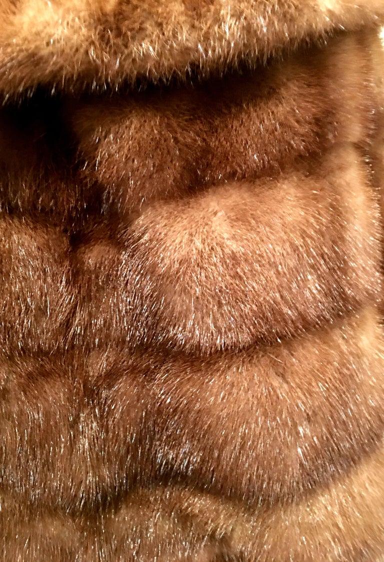 1950'S Mink Whyskey Dyed Mink Fur Capelet Jacket By, Lloyds Fur-Denver For Sale 3
