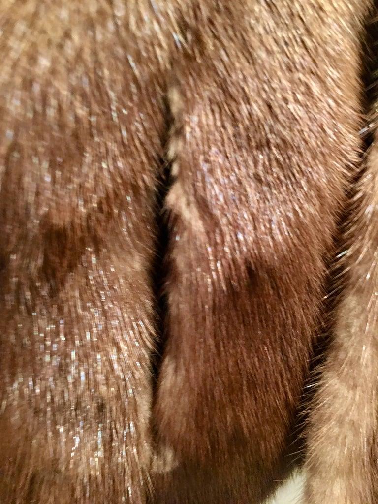 1950'S Mink Whyskey Dyed Mink Fur Capelet Jacket By, Lloyds Fur-Denver For Sale 4