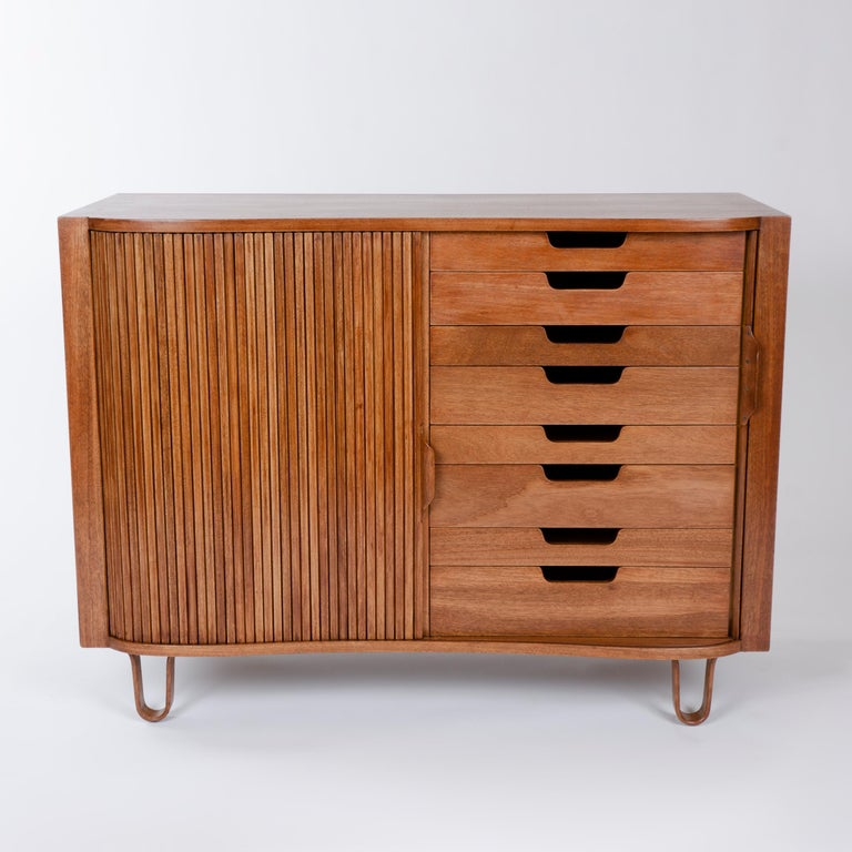 American 1950s Mister Cabinet in Mahogany by Edward Wormley for Dunbar For Sale