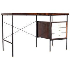 1950s Model '1015' Desk in Iron and Rosewood by Geraldo de Barros, Brazil Modern