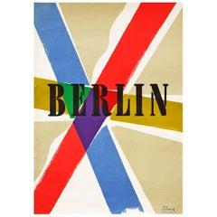 1950s Modernist Berlin Travel Poster by Richard Blank Bauhaus