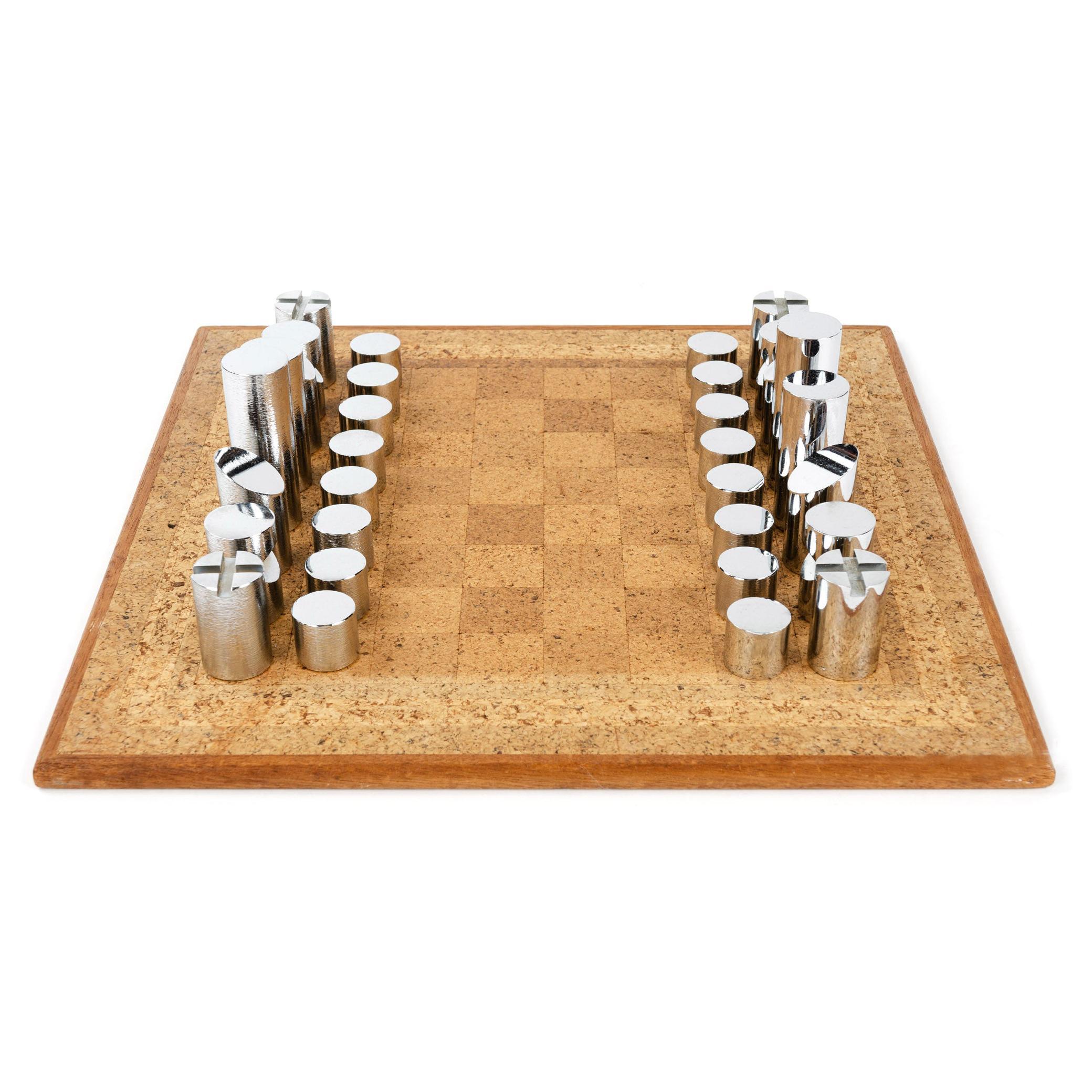 1950s Modernist Chess Set