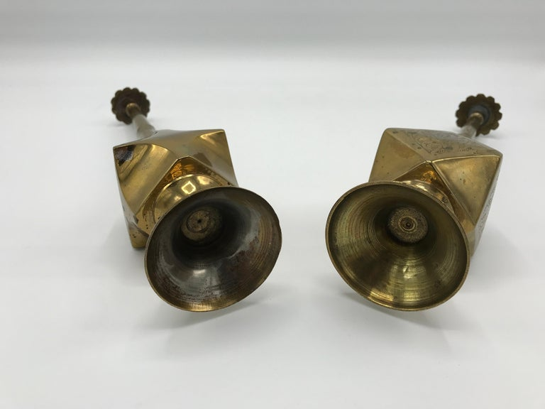 1950s Moroccan Brass Salt and Pepper Shaker Set, Pair For Sale 4