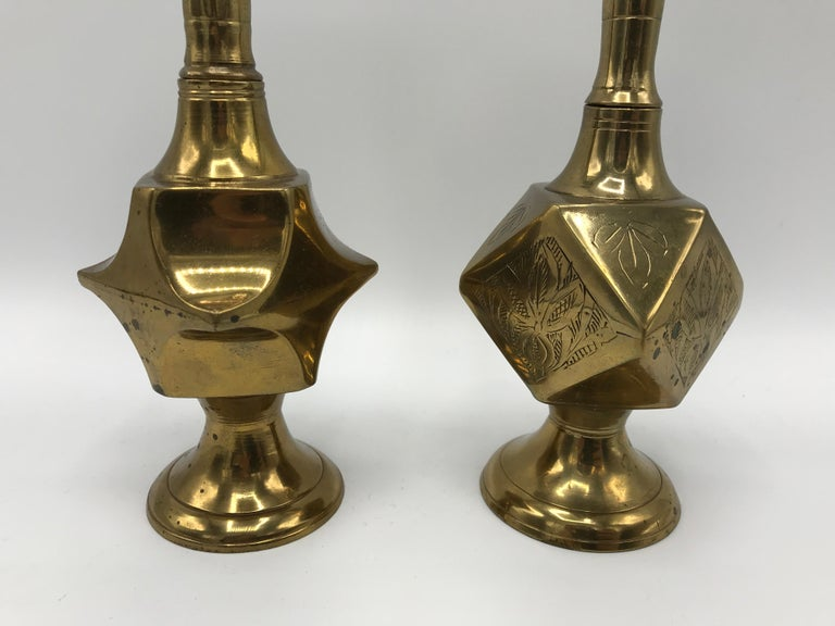1950s Moroccan Brass Salt and Pepper Shaker Set, Pair For Sale 1