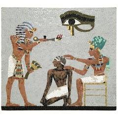 1950s Mosaic Egyptian Scene