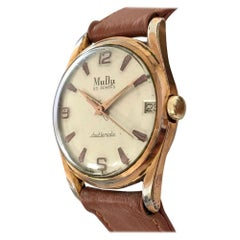 1950's MuDu 25 Jewels Doublematic Gold Plated Vintage Wristwatch