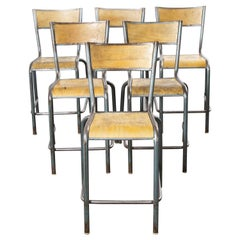 1950s Mullca High Laboratory Stacking Dining Chairs, Bar Stools, Set of Six