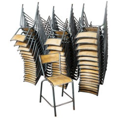1950s Mullca High Laboratory Stacking Dining Chairs