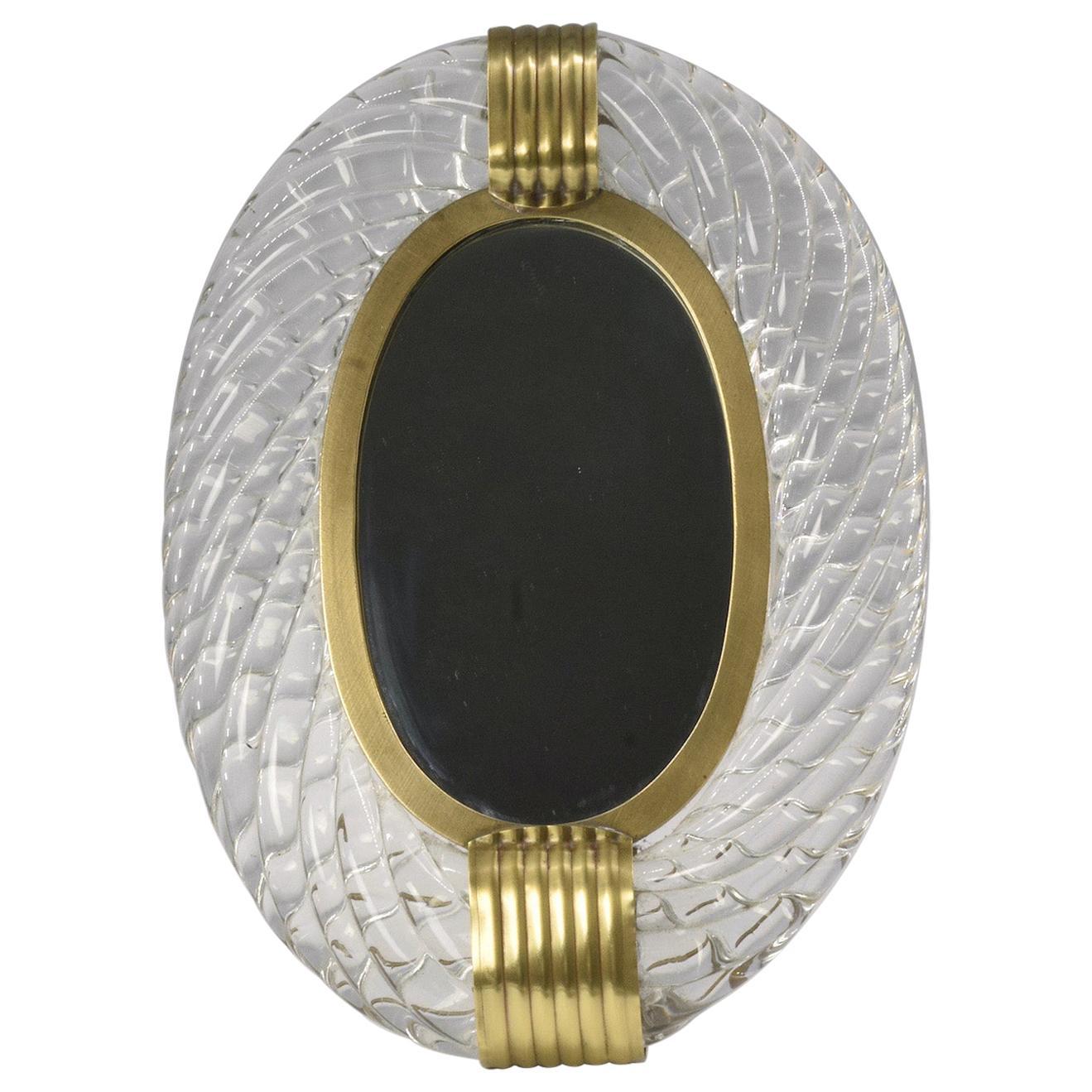 1950s Murano Vanity Mirror or Photo Frame by Carlo Scarpa for Venini