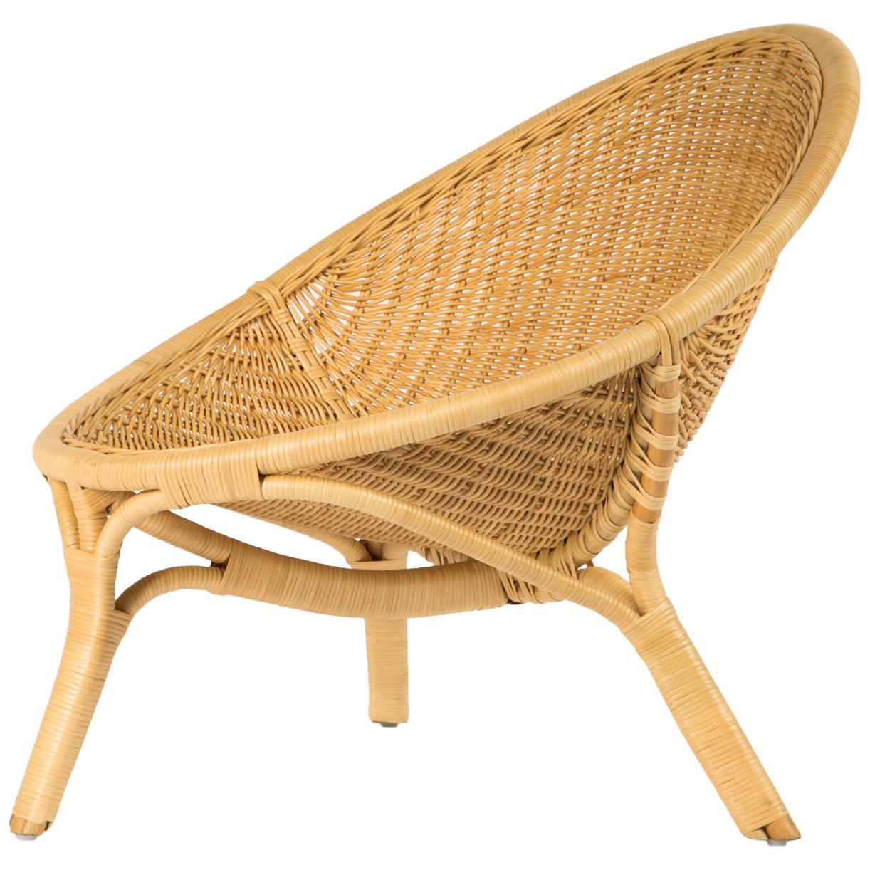 "1950s Nanna Ditzel Design Lounge And Rattan "" Rana "" Armchair"