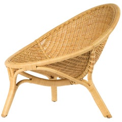 "1950s Nanna Ditzel Design Lounge And Rattan "" Rana "" Armchair"