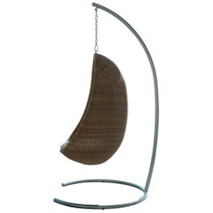 1950s Nanna & Jorgen Ditzel Design Hanging Outdoor Egg Chair