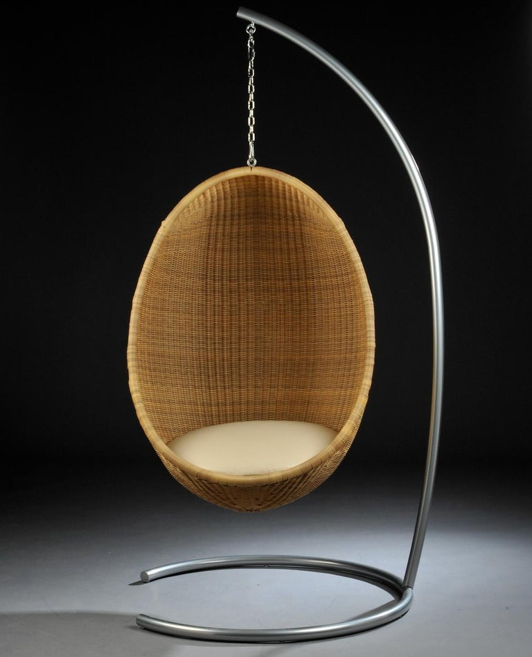 1950s Nanna and Jorgen Ditzel Design Hanging Rattan Egg ...