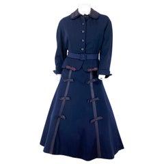 1950s Navy New Look Suit