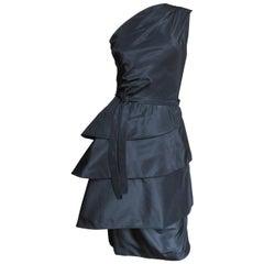 1950s New Werle of Beverly Hills Sculptural Silk Dress