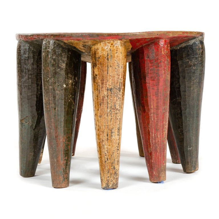 Tribal 1950s Nigerian Nupe Stool For Sale