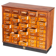 1950s Oak Apothecary Multi Drawer Chest of Drawers, Forty Five Drawers