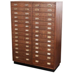 1950s Oak Apothecary Multi Drawer Chest of Drawers, Twenty Eight Drawers