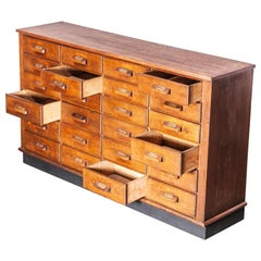 1950s Oak Apothecary Multi Drawer Chest of Drawers, Twenty Four Drawers