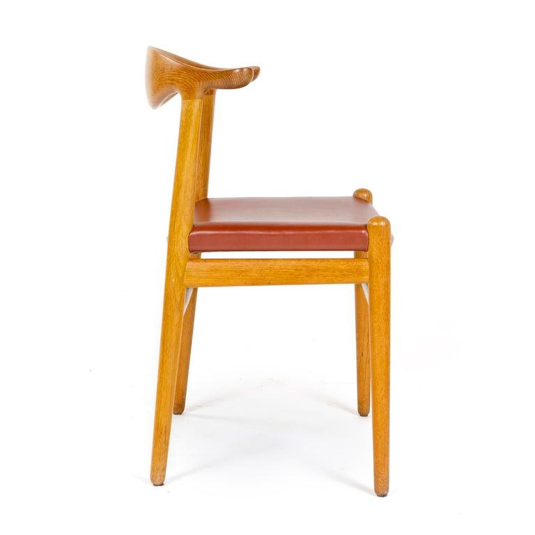Danish 1950s Oak Cow Horn Chair by Hans J. Wegner for Johannes Hansen For Sale