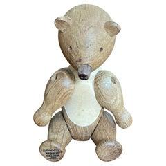 1950s Oak Wood Teddy Bear Designed by Kay Bojesen