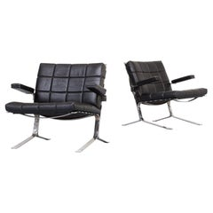 1950s Olivier Mourgue 'Joker' Arm Fauteuil for Airborne Set of 2