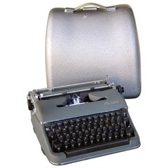 1950s Olympia SM3 De Luxe Typewriter with Hard Case
