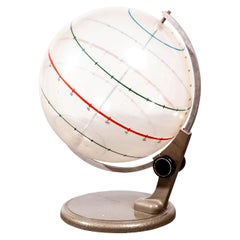 1950s Opaque Earth Geography Rotating Teaching Globe