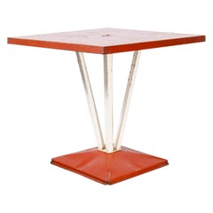 1950's Original French Tolix Outdoor Table, Four Column Base 'Model 1116.1'
