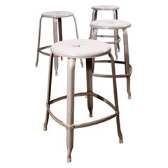 1950s Original Industrial Nicholle Stacking Stools - Set Of Four