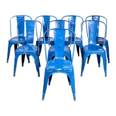 1950's Original Tolix Model A Dining Outdoor Chairs, Large Qty Available