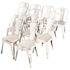 1950s Original Tolix Model A Dining Outdoor Chairs, Set of Twelve