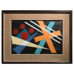 1950s Oscar Troneck Constructivism Oil on Canvas