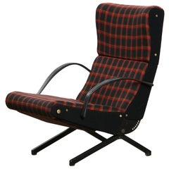 1950s Osvaldo Borsani Armchair, New Upholstery