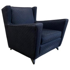 1950s Oversized Wingback Lounge Chair