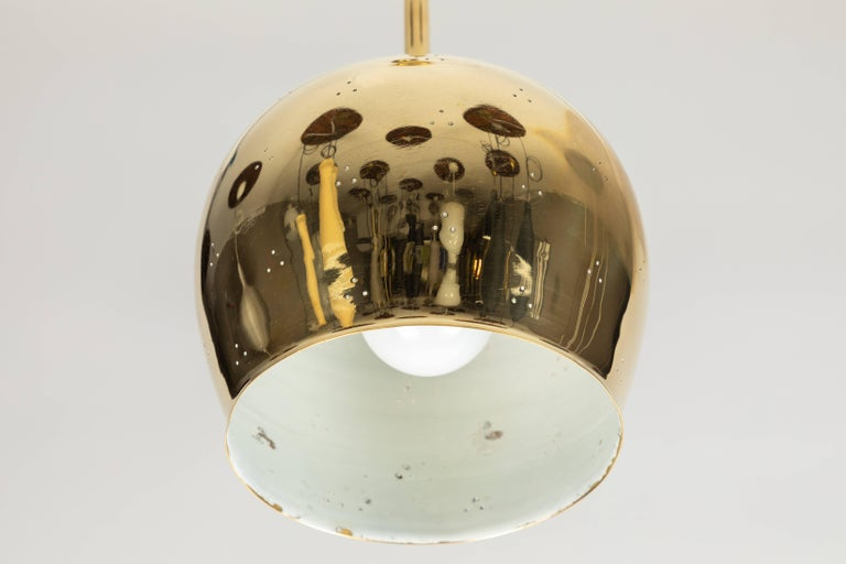 Brass 1950s Paavo Tynell A1957 Counterweight Pendant For Sale