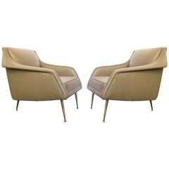 1950s Pair of Italian Armchairs Designed by Carlo de Carli